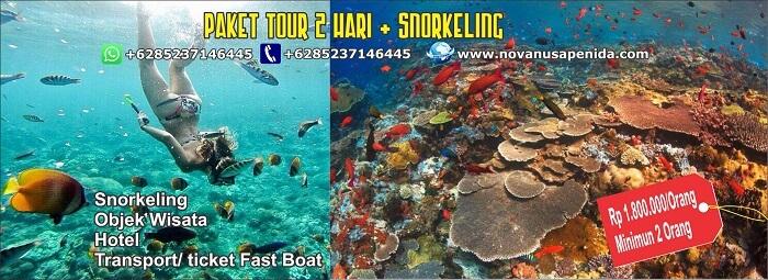 Paket Tour 2 Hari + Snorkeling