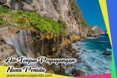 Air Terjun Peguyangan Salah Satu Lokasi Extreme di Nusa Penida