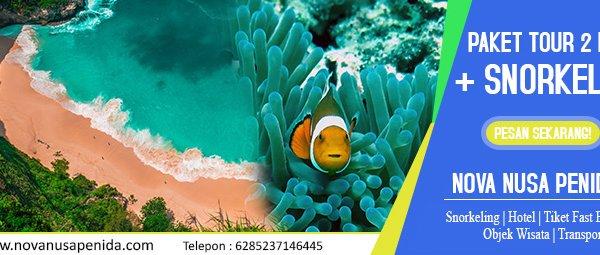 Paket Tour 2 Hari + Snorkeling di Nusa Penida