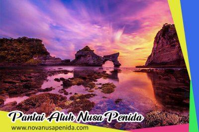 Pantai Atuh Nusa Penida dengan Pesona Tebing Batu Kapur